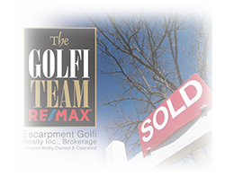 The Golfi Remax Team Sold sign