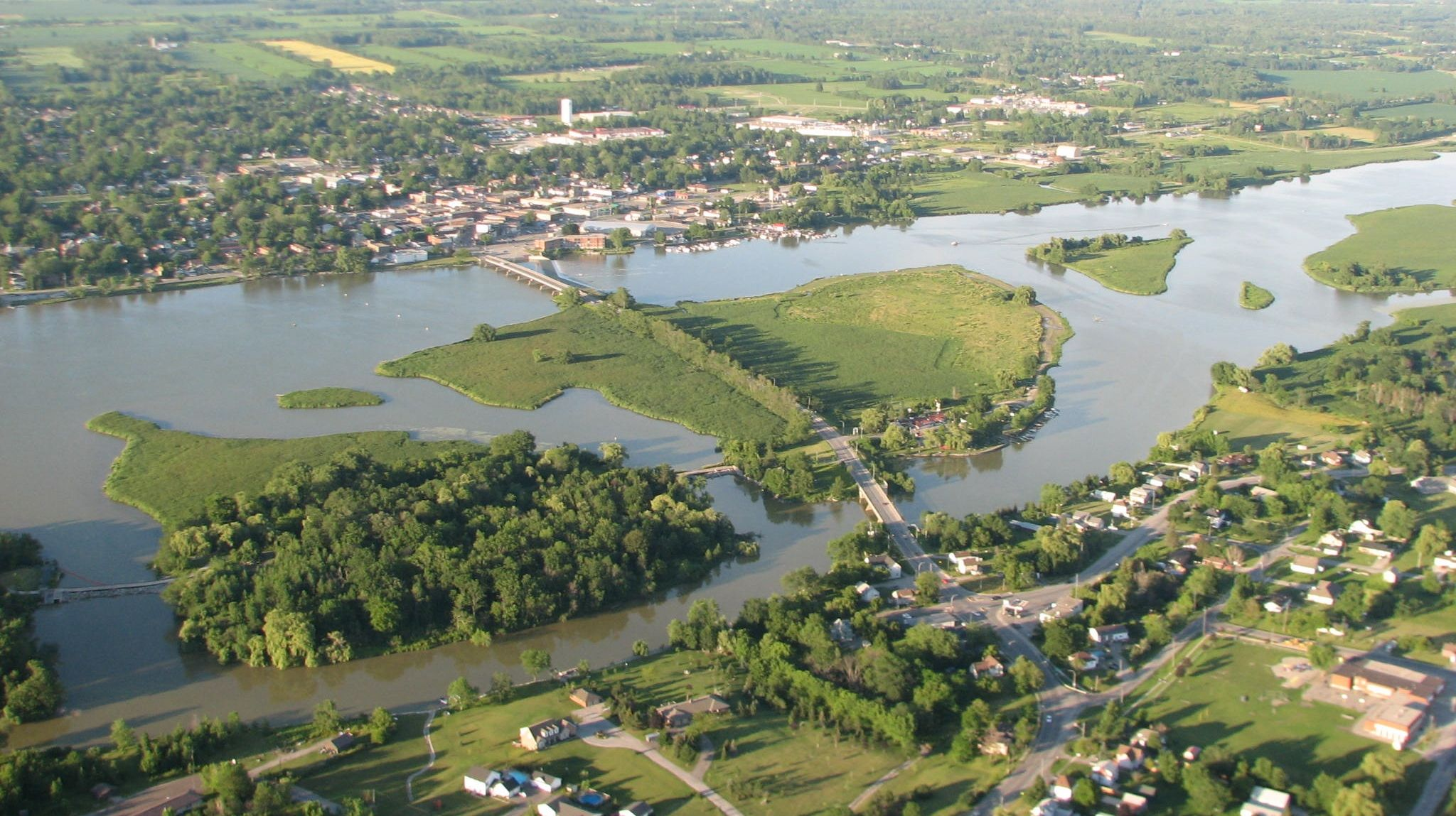 Dunnville Ontario, view from above