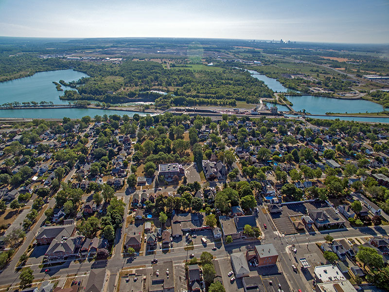 Thorold Ontario viewed from above